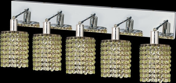 C121-1285W-O-R-LP/RC By Elegant Lighting Mini Collection 5 Lights Wall Sconce Chrome Finish