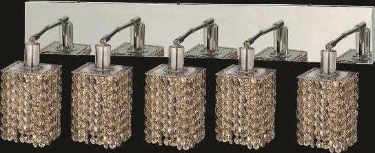 C121-1285W-O-S-GT/RC By Elegant Lighting Mini Collection 5 Lights Wall Sconce Chrome Finish