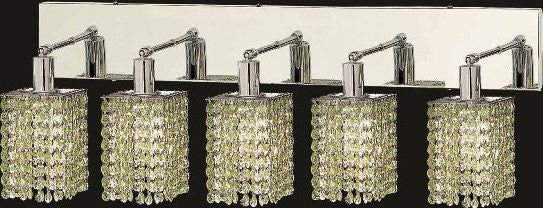 C121-1285W-O-S-LP/RC By Elegant Lighting Mini Collection 5 Lights Wall Sconce Chrome Finish
