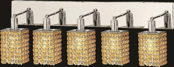 C121-1285W-O-S-LT/RC By Elegant Lighting Mini Collection 5 Lights Wall Sconce Chrome Finish