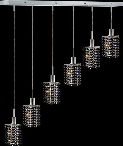 C121-1286D-O-P-JT/RC By Elegant Lighting Mini Collection 6 Lights Pendant Chrome Finish