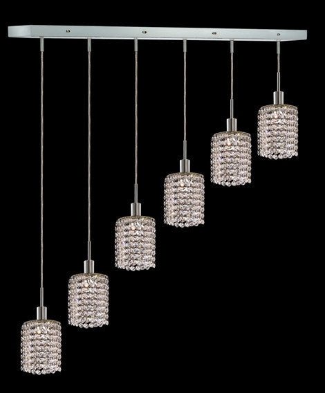 C121-1286D-O-R-CL/RC By Elegant Lighting Mini Collection 6 Lights Pendant Chrome Finish
