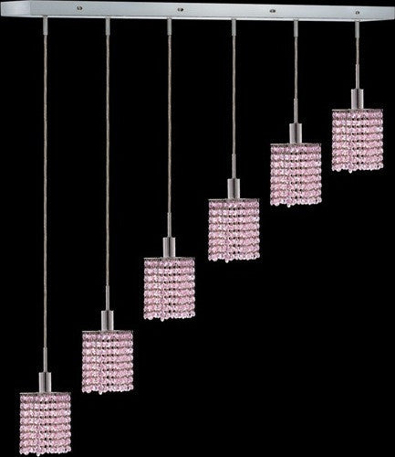 C121-1286D-O-S-RO/RC By Elegant Lighting Mini Collection 6 Lights Pendant Chrome Finish