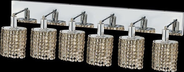 C121-1286W-O-E-GT/RC By Elegant Lighting Mini Collection 6 Lights Wall Sconce Chrome Finish