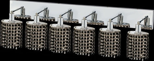 C121-1286W-O-E-JT/RC By Elegant Lighting Mini Collection 6 Lights Wall Sconce Chrome Finish