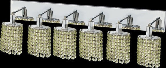 C121-1286W-O-E-LP/RC By Elegant Lighting Mini Collection 6 Lights Wall Sconce Chrome Finish