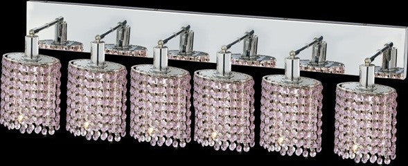 C121-1286W-O-E-RO/RC By Elegant Lighting Mini Collection 6 Lights Wall Sconce Chrome Finish