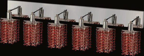 C121-1286W-O-P-BO/RC By Elegant Lighting Mini Collection 6 Lights Wall Sconce Chrome Finish