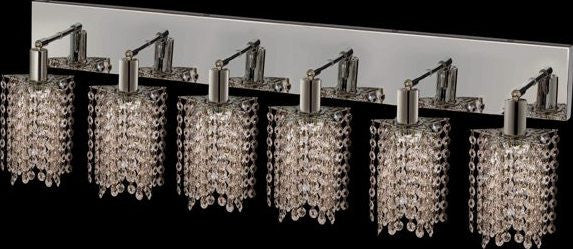 ZC121-1286W-O-P-CL/EC By Regency Lighting Mini Collection 6 Lights Wall Sconce Chrome Finish