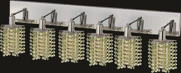 C121-1286W-O-P-LP/RC By Elegant Lighting Mini Collection 6 Lights Wall Sconce Chrome Finish