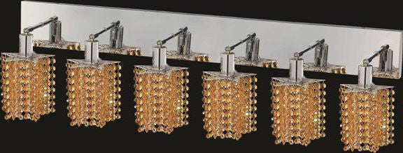 C121-1286W-O-P-LT/RC By Elegant Lighting Mini Collection 6 Lights Wall Sconce Chrome Finish