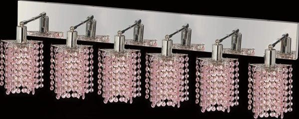 C121-1286W-O-P-RO/RC By Elegant Lighting Mini Collection 6 Lights Wall Sconce Chrome Finish