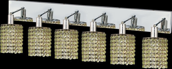C121-1286W-O-R-LP/RC By Elegant Lighting Mini Collection 6 Lights Wall Sconce Chrome Finish