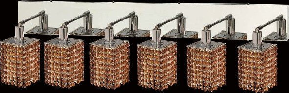 C121-1286W-O-S-TO/RC By Elegant Lighting Mini Collection 6 Lights Wall Sconce Chrome Finish
