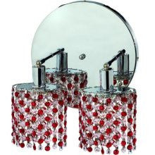 C121-1382W-R-E-BO/RC By Elegant Lighting Mini Collection 2 Lights Wall Sconce Chrome Finish