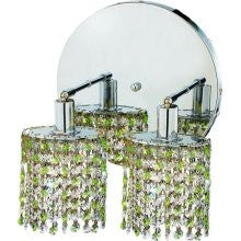 C121-1382W-R-E-LP/RC By Elegant Lighting Mini Collection 2 Lights Wall Sconce Chrome Finish