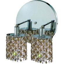 C121-1382W-R-R-GT/RC By Elegant Lighting Mini Collection 2 Lights Wall Sconce Chrome Finish