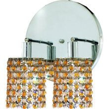 C121-1382W-R-R-LT/RC By Elegant Lighting Mini Collection 2 Lights Wall Sconce Chrome Finish