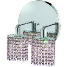 C121-1382W-R-R-RO/RC By Elegant Lighting Mini Collection 2 Lights Wall Sconce Chrome Finish