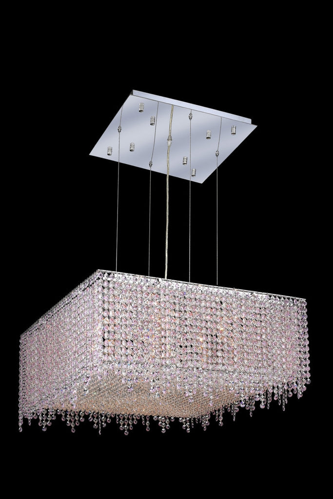 C121-1394D26C-BO/RC By Elegant Lighting Moda Collection 13 Light Chandeliers Chrome Finish