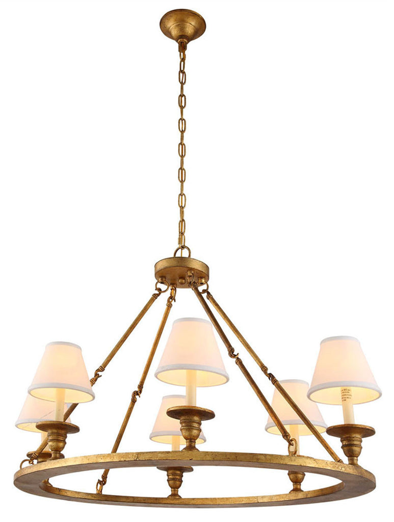 C121-1402D36GI By Elegant Lighting - Chester Collection Golden Iron Finish 6 Lights Pendant lamp
