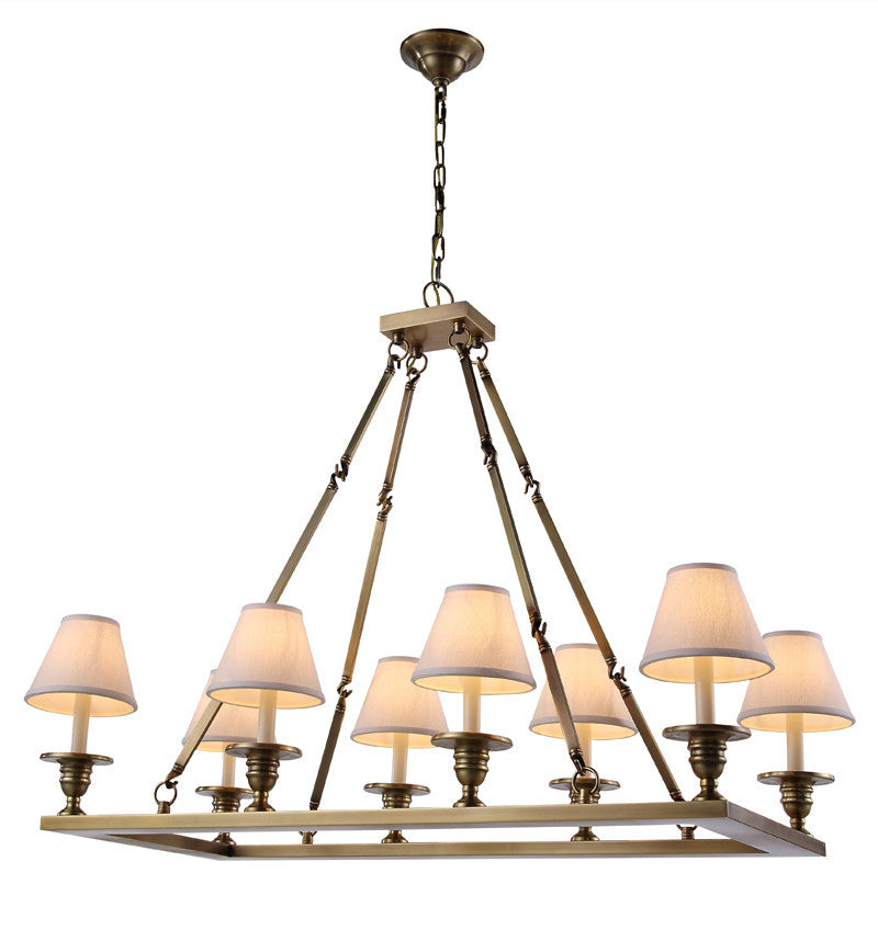C121-1403G38BB By Elegant Lighting - Franklin Collection Burnished Brass Finish 8 Lights Pendant lamp