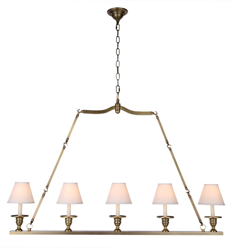 C121-1404G48BB By Elegant Lighting - Cambria Collection Burnished Brass Finish 5 Lights Pendant lamp