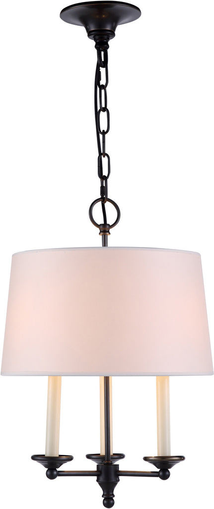 C121-1405D14BZ By Elegant Lighting - Crawford Collection Bronze Finish 3 Lights Pendant lamp