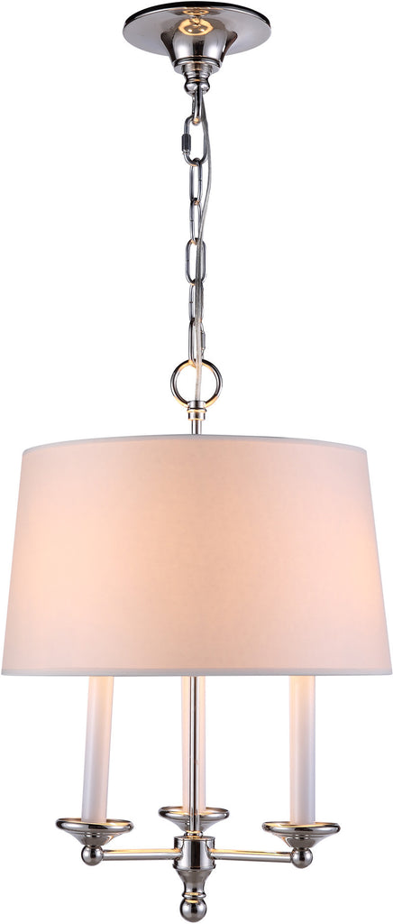 C121-1405D14PN By Elegant Lighting - Crawford Collection Polished Nickel Finish 3 Lights Pendant lamp
