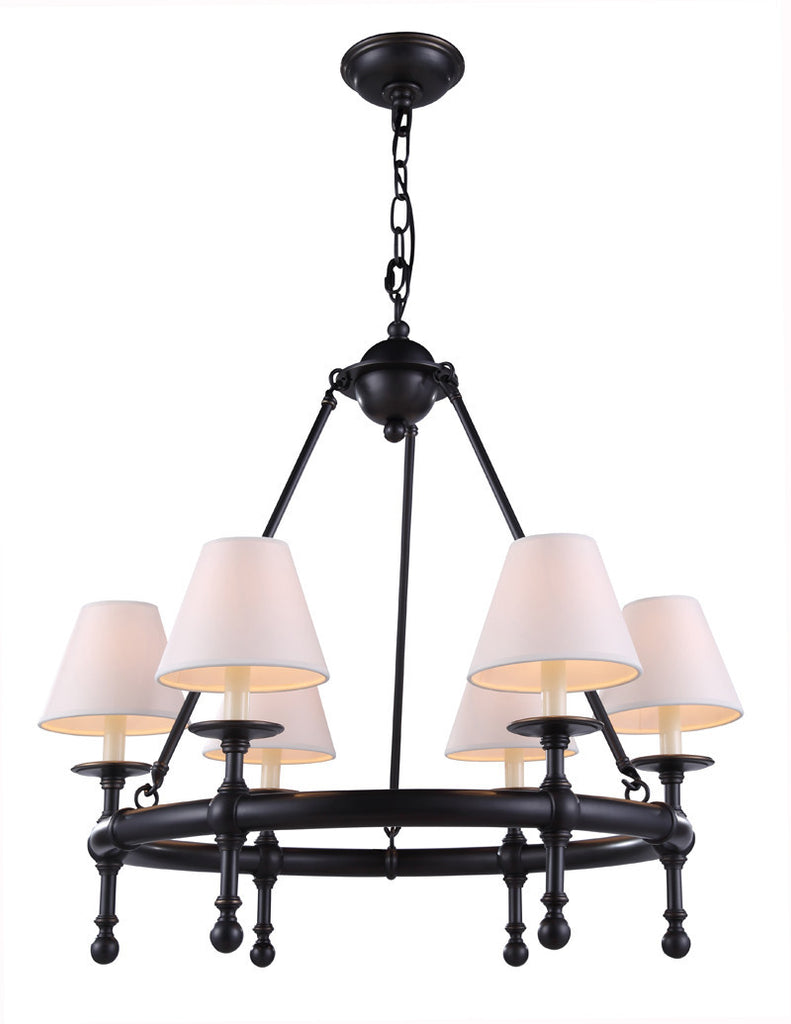 C121-1406D26BZ By Elegant Lighting - Montgomery Collection Bronze Finish 6 Lights Pendant lamp