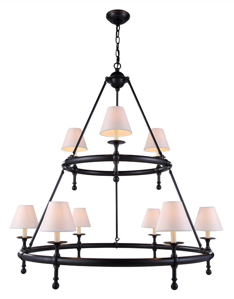 C121-1406G45BZ By Elegant Lighting - Montgomery Collection Bronze Finish 9 Lights Pendant lamp