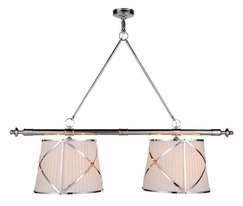 C121-1408G51PN By Elegant Lighting - Fairmount Collection Polished Nickel Finish 4 Lights Pendant lamp