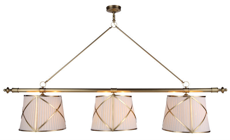 C121-1408G75BB By Elegant Lighting - Fairmount Collection Burnished Brass Finish 6 Lights Pendant lamp