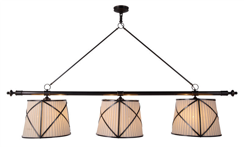 C121-1408G75BZ By Elegant Lighting - Fairmount Collection Bronze Finish 6 Lights Pendant lamp