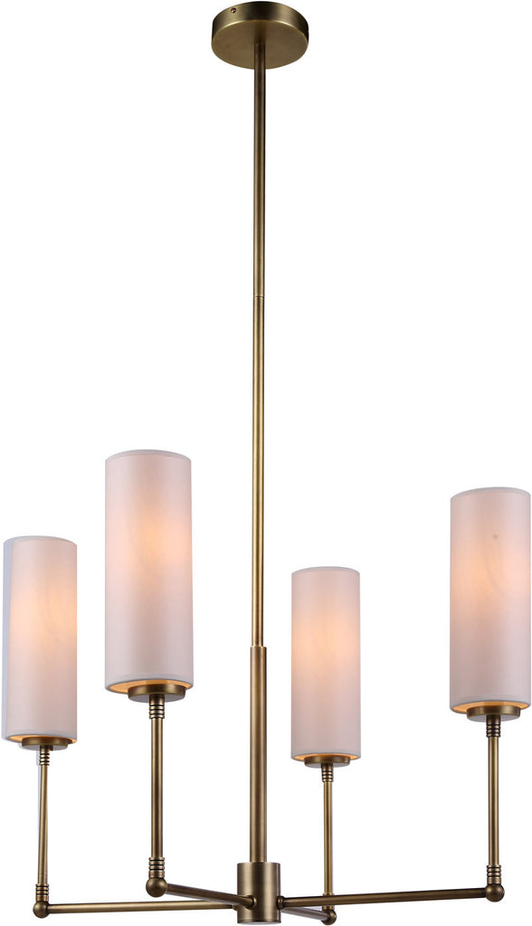 C121-1410D24BB By Elegant Lighting - Richmond Collection Burnish Brass Finish 4 Lights Pendant lamp