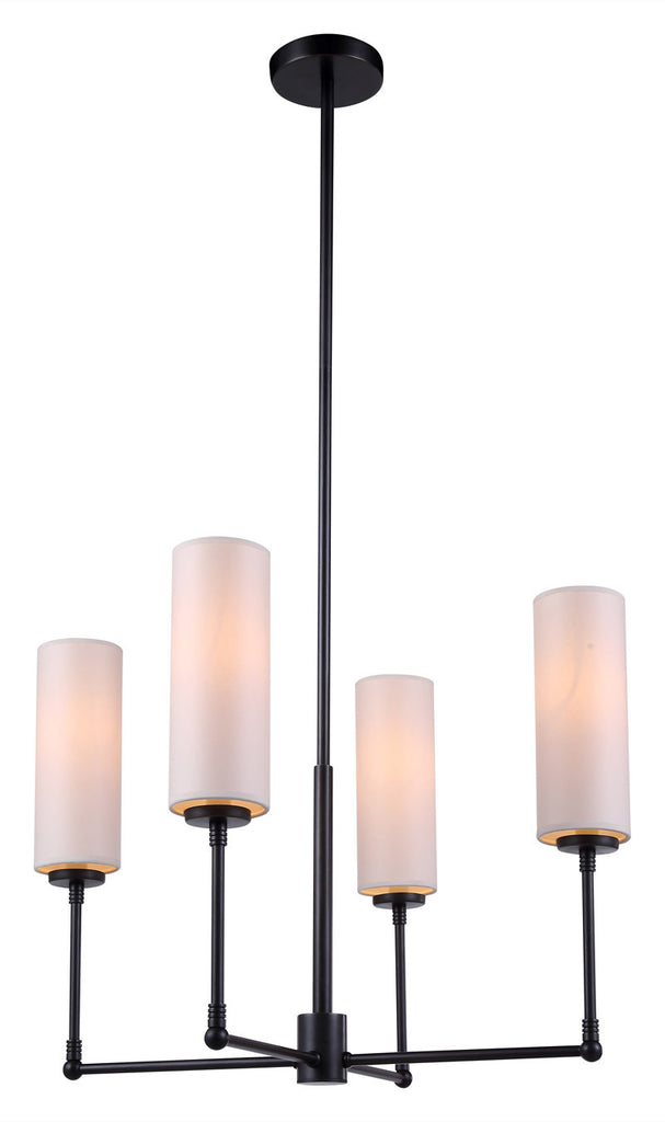 C121-1410D24BZ By Elegant Lighting - Richmond Collection Bronze Finish 4 Lights Pendant lamp