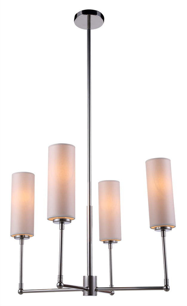 C121-1410D24PN By Elegant Lighting - Richmond Collection Polished Nickel Finish 4 Lights Pendant lamp