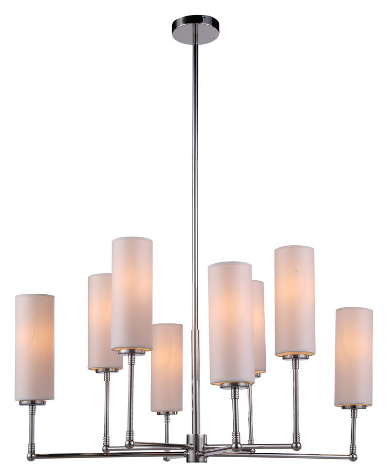 C121-1410G34PN By Elegant Lighting - Richmond Collection Polished Nickel Finish 8 Lights Pendant lamp