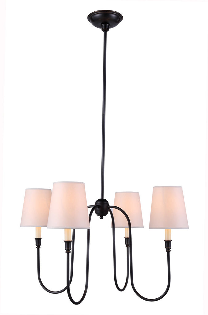 C121-1411D26BZ By Elegant Lighting - Lancaster Collection Bronze Finish 4 Lights Pendant lamp