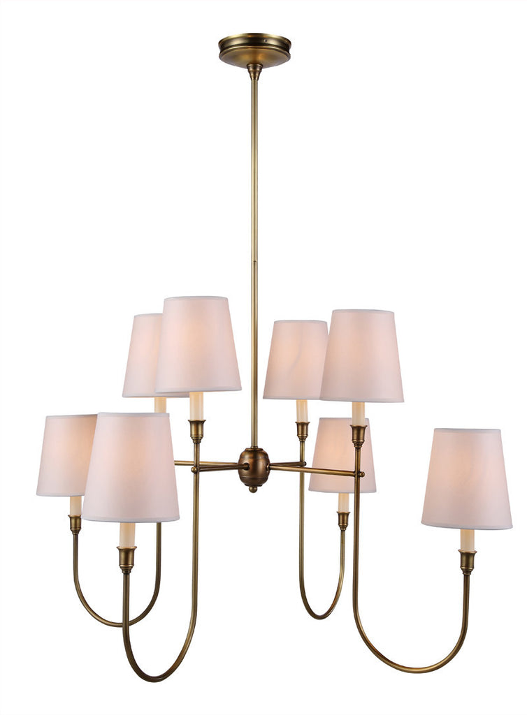 C121-1411G36BB By Elegant Lighting - Lancaster Collection Burnish Brass Finish 8 Lights Pendant lamp