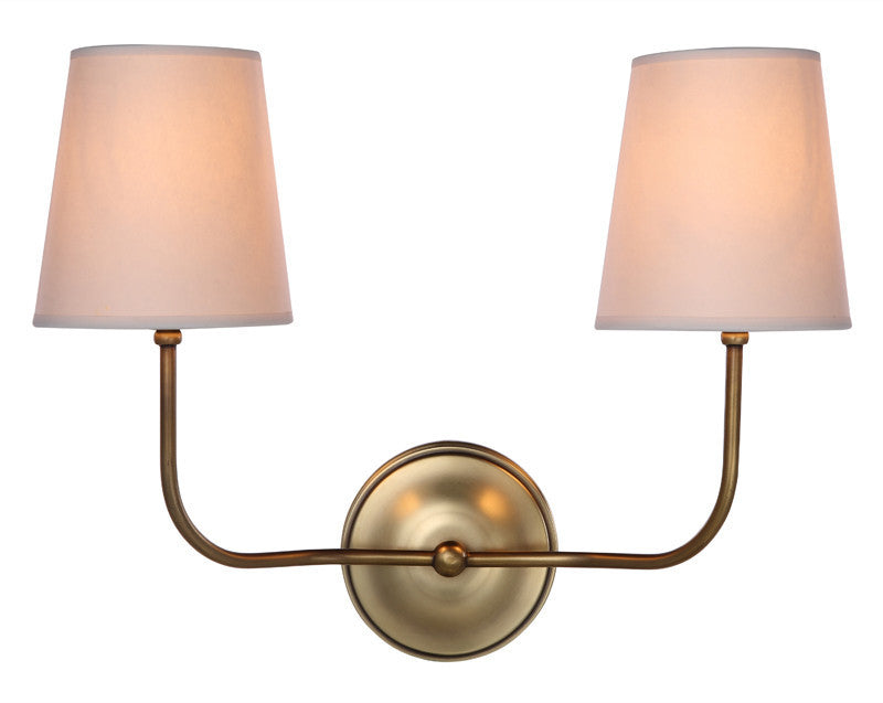 C121-1411W18BB By Elegant Lighting - Lancaster Collection Burnish Brass Finish 1 Light Wall Sconce