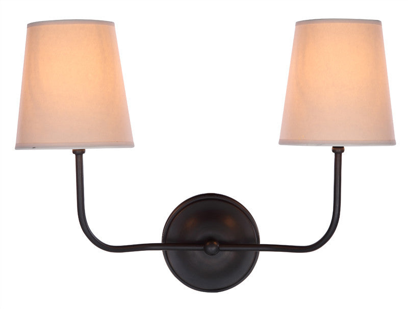 C121-1411W18BZ By Elegant Lighting - Lancaster Collection Bronze Finish 1 Light Wall Sconce