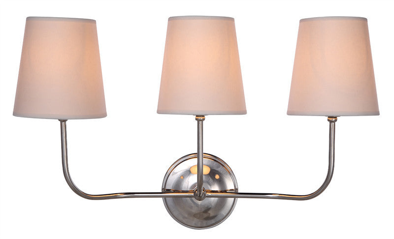 C121-1411W22PN By Elegant Lighting - Lancaster Collection Polished Nickel Finish 2 Lights Wall Sconce