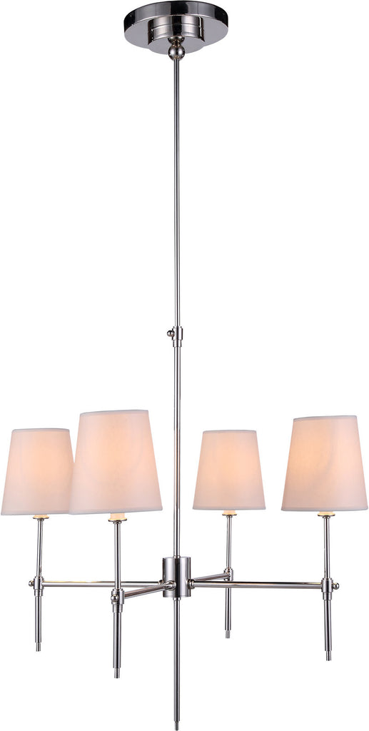 C121-1412D26PN By Elegant Lighting - Baldwin Collection Polished Nickel Finish 4 Lights Pendant lamp
