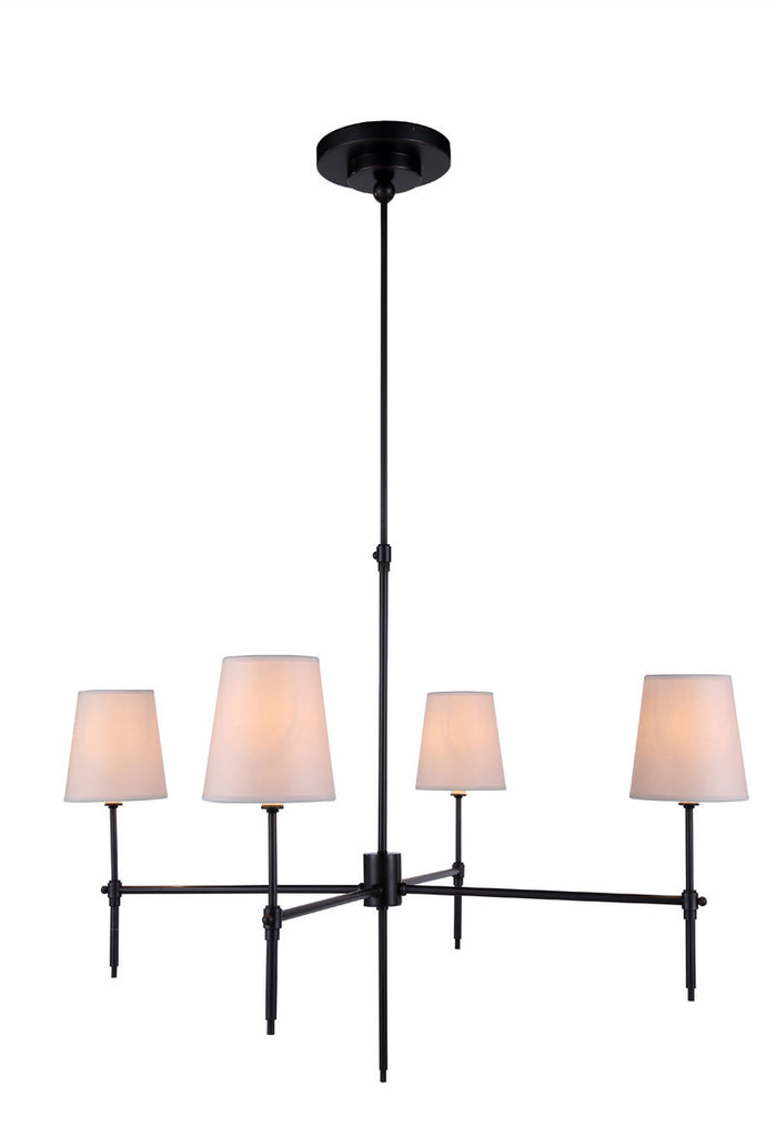 C121-1412G36BZ By Elegant Lighting - Baldwin Collection Bronze Finish 4 Lights Pendant lamp