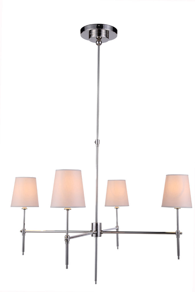 C121-1412G36PN By Elegant Lighting - Baldwin Collection Polished Nickel Finish 4 Lights Pendant lamp