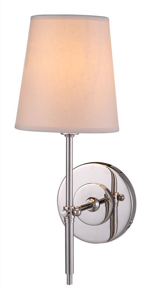C121-1412W6PN By Elegant Lighting - Baldwin Collection Polished Nickel Finish 1 Light Wall Sconce
