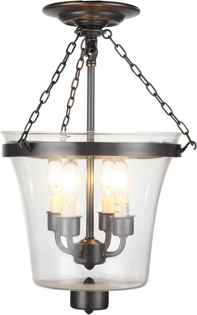 C121-1423F12BZ By Elegant Lighting - Seneca Collection Bronze Finish 4 Lights Flush Mount