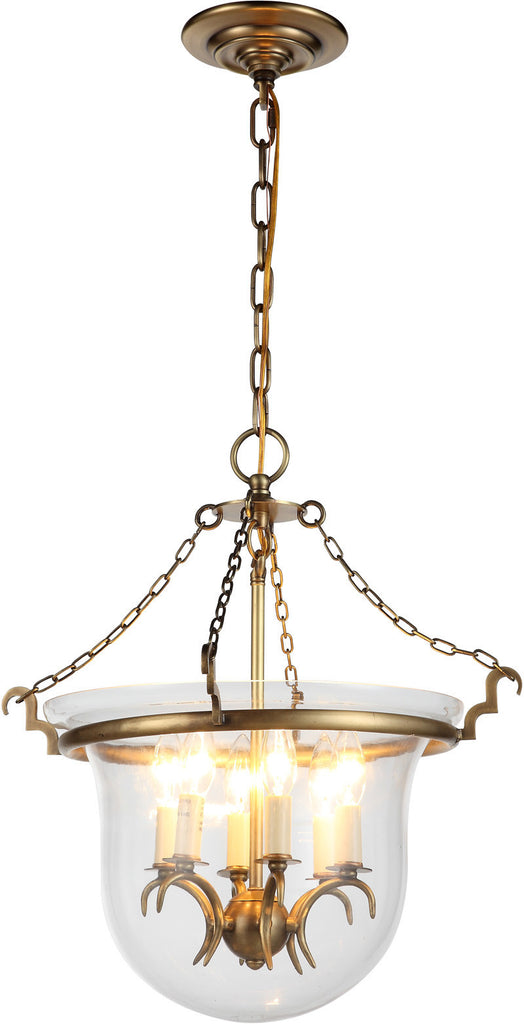 C121-1426F18BB By Elegant Lighting - Seneca Collection Burnished Brass Finish 6 Lights Flush Mount