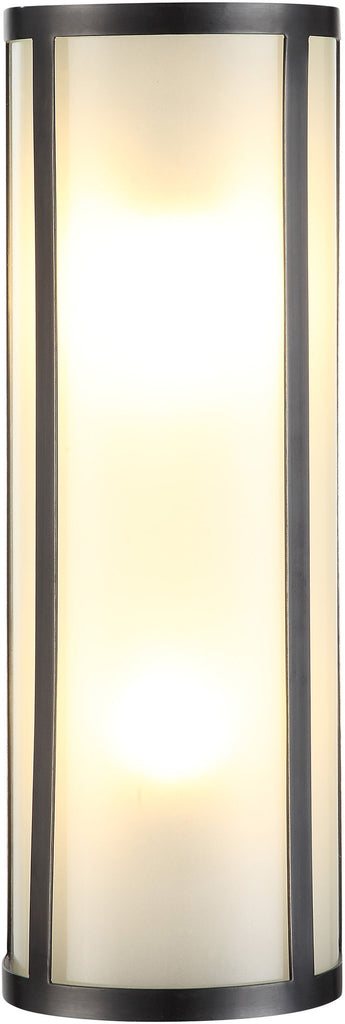 C121-1427W5BZ By Elegant Lighting - Sierra Collection Bronze Finish 2 Lights Wall Sconce